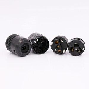 Image 4 - 24k pozłacana wersja ue wtyczka zasilania IEC siła żeńska wtyczka zasilania dla złącza przewodu moc dźwięku, Schuko zasilanie prądem zmiennym wtyczka zasilania + IEC power conne