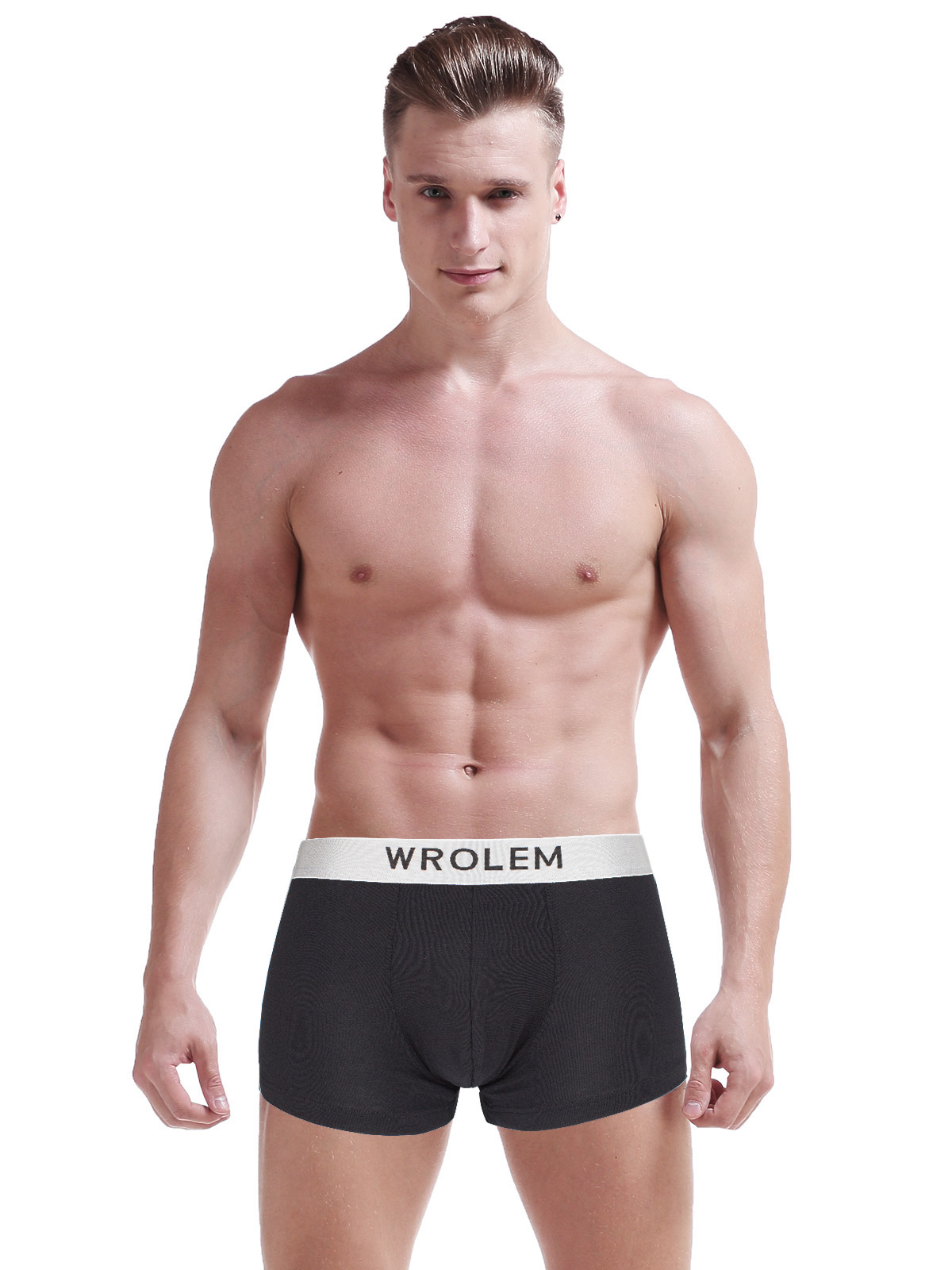 2019 Sexy Large Size Mens Underwear Boxer Shorts Man Soft Male Panties Boxer U Convex Breathable Belt Cuecas L 3XL 4Pcs lot in Boxers from Underwear Sleepwears