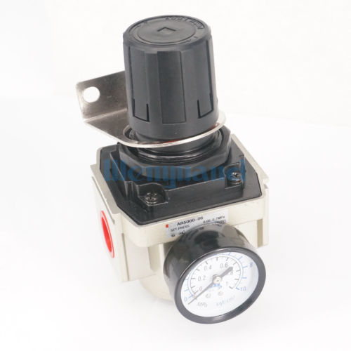 AR5000-06 Air Control Compressor Pressure Relief Regulating Regulator G3/4 With Gauge And Bracket 1pc air compressor pressure regulator valve air control pressure gauge relief regulator 75x40x40mm