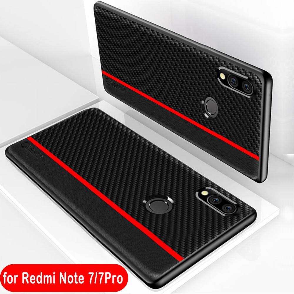 Xiaomi Redmi Note 7 Case Original CENMASO Fiber PU Leather Protection Cover Redmi Note 7 Pro Case Xiaomi Redmi Note 5 Pro Cover