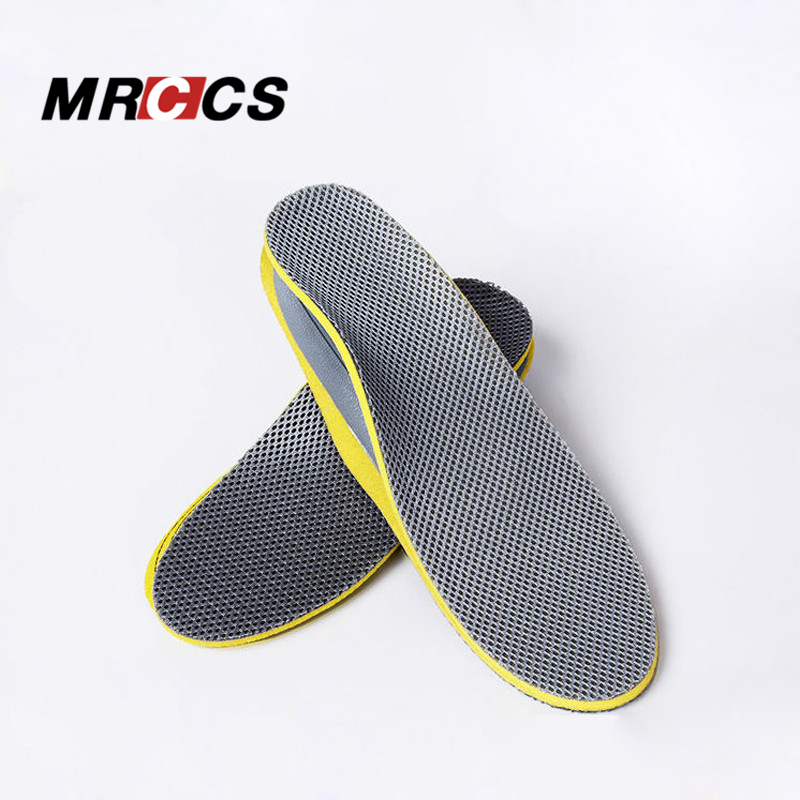 MRCCS Comfort Shock Absorb Arch Support Insole,Ac Breathable Net Cloth Insole,Daily Running Walking Match Free Size Men Women