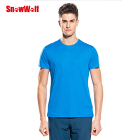 SNOWWOLF Outdoor Quick Dry UV Protection Skin T Shirt Breathable Stretch Men Sport Shirt,For Gym Running Exercises Camping Tops