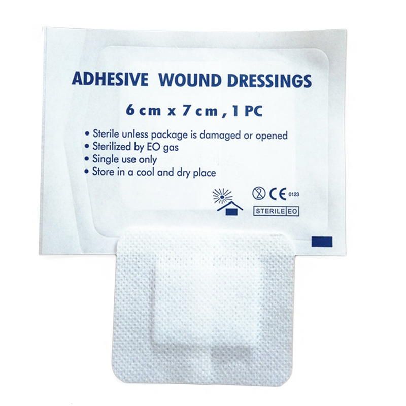 10 Pcs/lot Large Size Hypoallergenic Non-woven  Adhesive Wound Band Aid Bandage Large Wound First Aid 6*7cm
