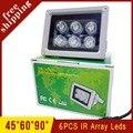 Waterproof Surveillance Camera 6 Infrared Array led IR illuminator Night Vision Fill Light Free Shipping