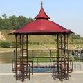 Diámetro 3.5 metros de acero de hierro de alta calidad de lujo durbble pavilion dosel carpa gazebo patio al aire libre muebles de jardín parasol casa