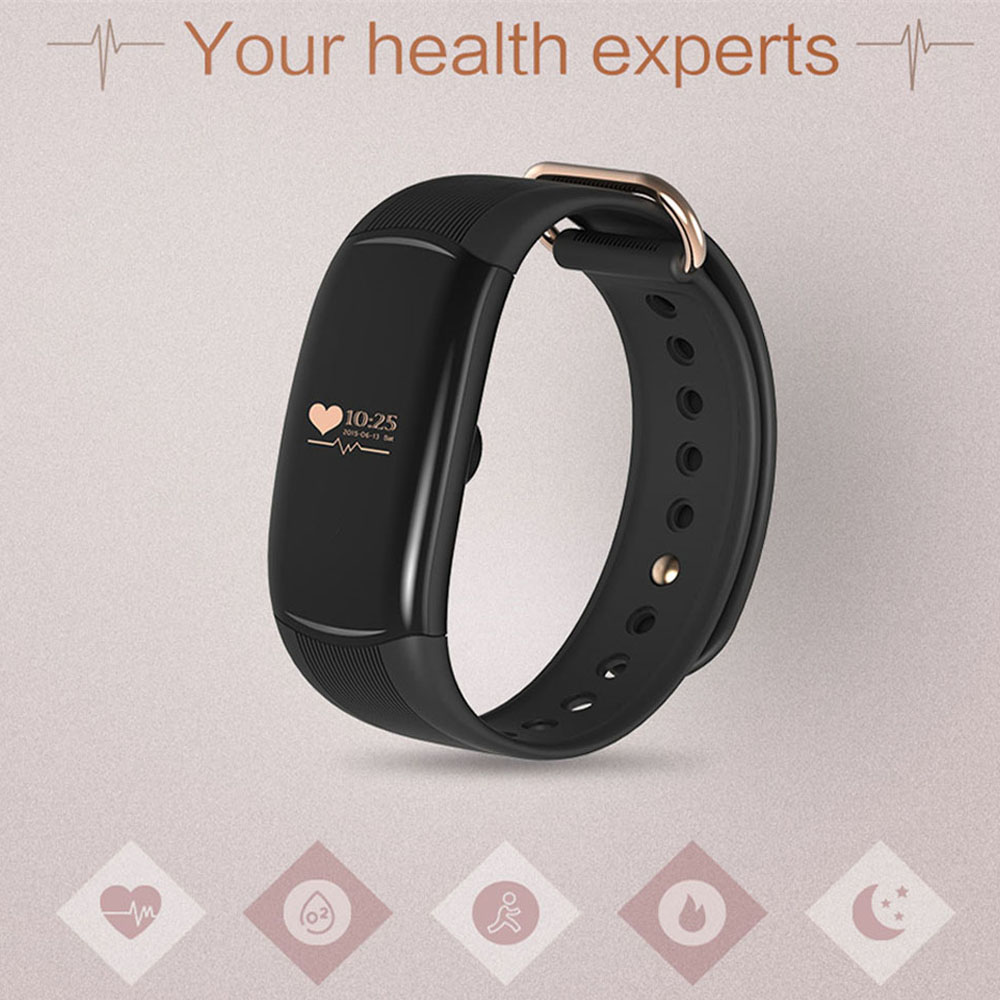 DMY New H1 Bluetooth font b Smart b font Bracelet Heart Rate Monitor Sports font b