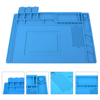 45x30cm Heat Insulation Silicone Pad Mat Maintenance Platform For BGA Soldering Phone Repair Station With Magnetic