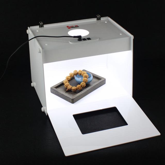 303*246*238mm mini 2 unids D30 tiras de luz Profesional Portátil Mini Kit Foto de Estudio Fotografía led Caja de Luz foto Caja de Luz