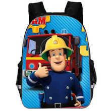 6fe851b72bb Nieuwe Collectie Cartoon Hero Brandweerman Sam Gedrukt kånken Rugzakken  Voor Kinderen Tas Voor Kinderen Jongens Schooltas