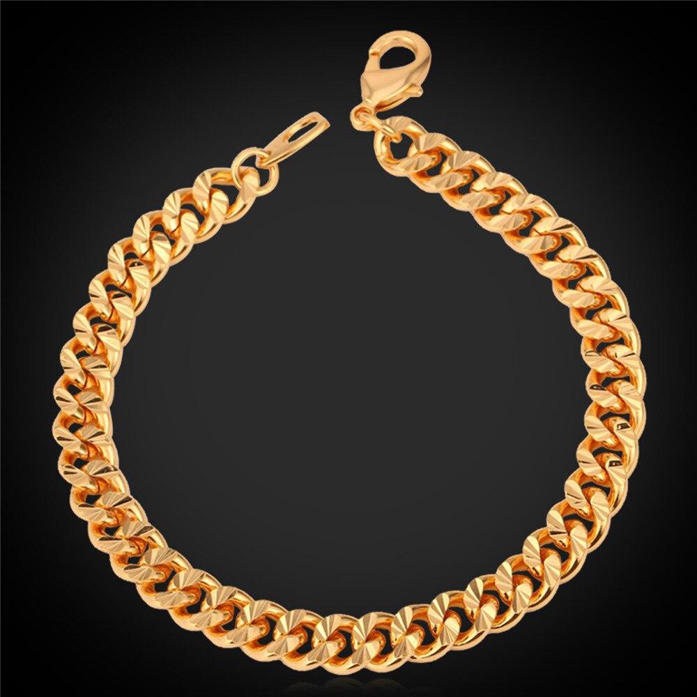 Cubain Lien Chaîne Bracelets Hommes Bijoux À La Mode Pistolet Noir Or  Rose Or Couleur Femmes Bracelets Bracelets H252 cd5d0b2c11aa