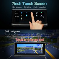 HD 1080p Dual Camera WiFi Bluetooth Car DVR GPS Navigation Android 7inch Touch Auto Car DVR
