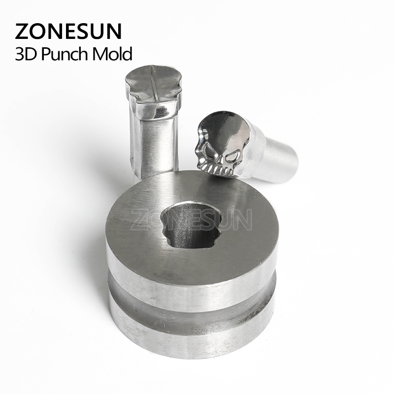 ZONESUN Skull Customized hand tablet mould Press Steel Hole