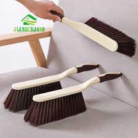 Cepillo de plástico para el hogar, removedor de polvo, cepillo de limpieza, escoba, mango largo, cepillo suave antiestático