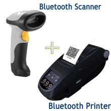 Handheld Wi-fi 58mm Bluetooth Thermal Receipt Printer Android /Home windows AND Bluetooth Barcode Scanner NP100+CT10