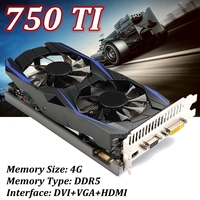 750TI 4GB 128bit DDR5 Computer Gaming PC PCI Express 2 0 Video Graphics Card GP107 With