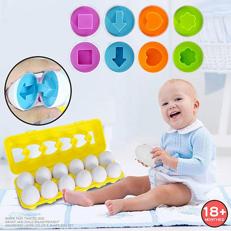 Matching-Egg-Toy Skills Recognition Random-Color Toddler 1pcs Shape Children