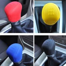 4 color Universal Car Manual Handbrake Grip Car Hand Brake Covers Case Silicone Gear Head Shift Knob Cover Gear Shift Collars