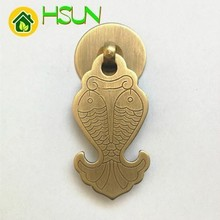 цена на Antique Pure Copper Classical Full Copper Handle Full Copper Fish Shape Handle Door Knob Gold Door Pull Bronze