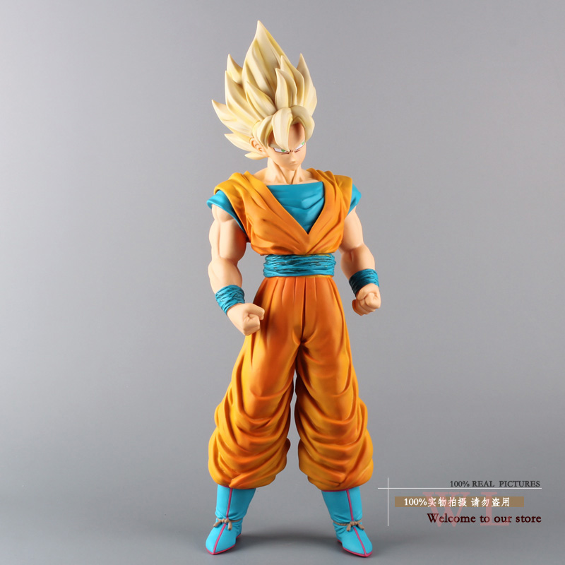 Dragon Ball Z Super Big Size Super Saiyan Son Goku PVC Action Figure Collection Model Toy 17 43cm dragon ball super toy son goku action figure anime super vegeta pop model doll pvc collection toys for children christmas gifts