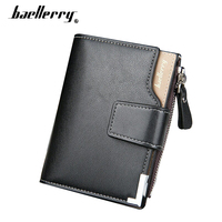 Baellerry Men S Wallet Card Holder Men Wallet Short Leather Purse Zipper Hasp Men Wallets Coin
