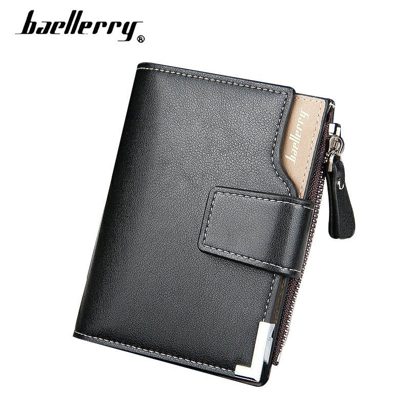 Baellerry Small Wallet Male Clutch Card Holder Wallet Men Leather Male Portmann Coin Purse Portable Men Wallets Hasp Money Bags fashion baellerry men pu leather portable card holder organizer long wallet money coin purse male pocket pochette clutch bag
