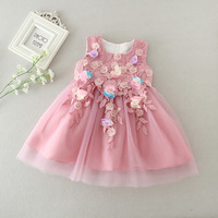 Purple Baby Girls Dress 0 2Years Girls Wedding Dress Cute Knee Length Ball Gown With Bow Baby Clothes Flower Child Dress