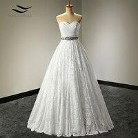 A Line Lace Sweetheart Sleeveless Crystals Wedding Dresses Sashes Wedding Dresses China Crystal Wedding Dress Vernassa