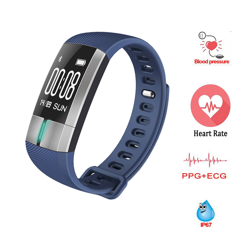 Intelligente Wristband G20 Monitor ECG di Pressione Sanguigna Heart Rate Orologi Fitness Activity Tracker Braccialetto pk mi Band 2 ID107