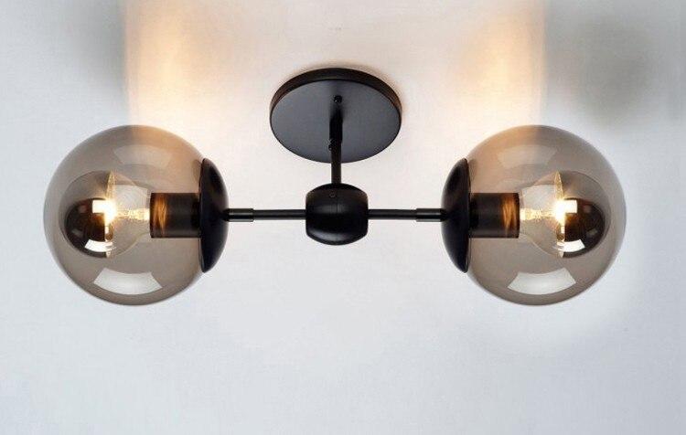 Loft vintage lustre industriel verre clair boule magique edison