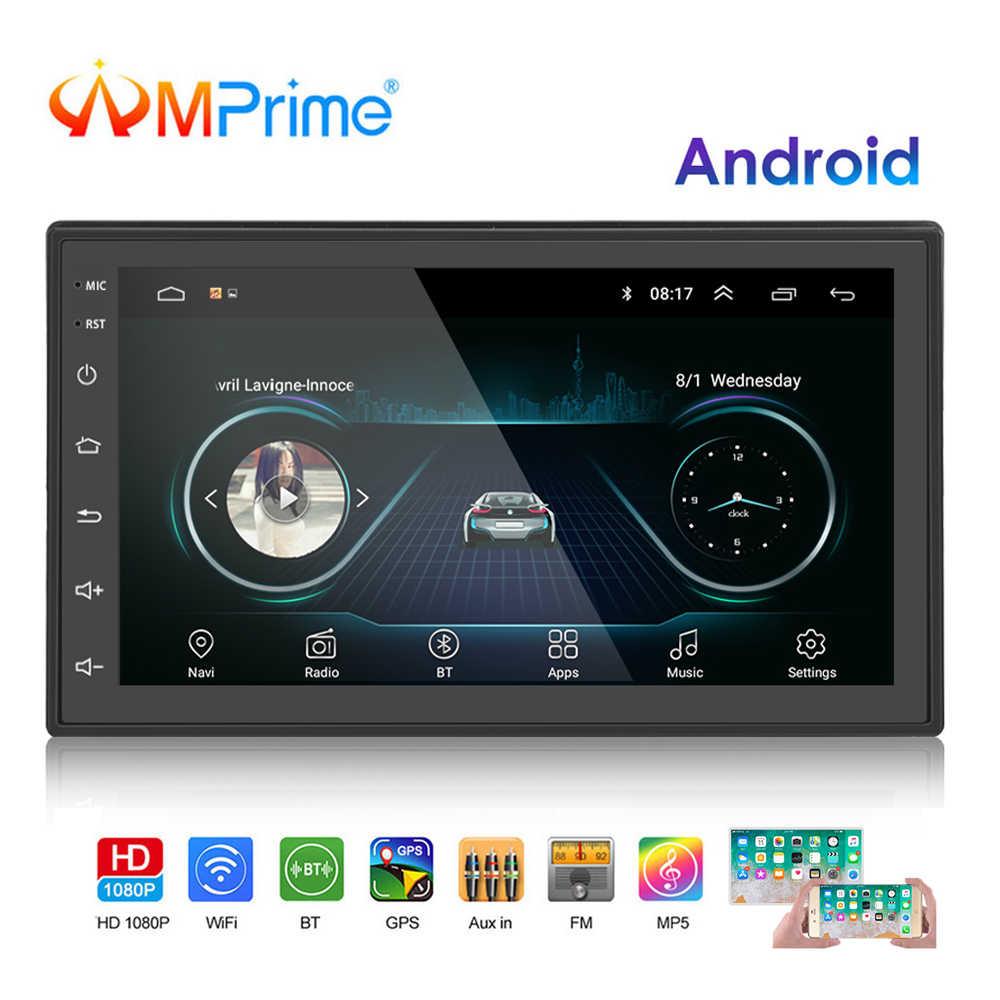 AMPrime 2 Din автомобильный радиоприемник Android Универсальная gps-навигация Bluetooth Сенсорный экран Wifi автомобильный аудио стерео FM USB автомобильный мультимедийный MP5