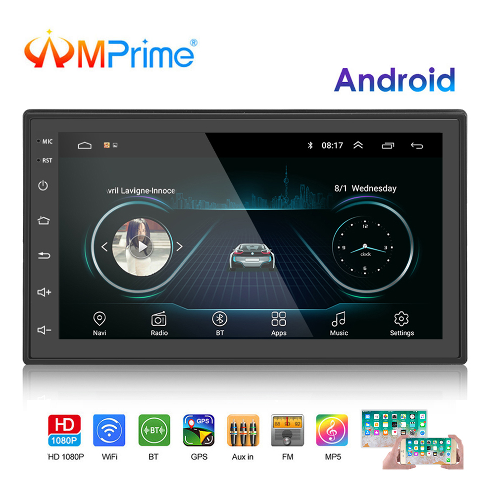AMPrime 2 Din Car Radio Android Universal GPS Navigation Bluetooth Touch screen Wifi Car Audio Stereo FM USB Car Multimedia MP5AMPrime 2 Din Car Radio Android Universal GPS Navigation Bluetooth Touch screen Wifi Car Audio Stereo FM USB Car Multimedia MP5