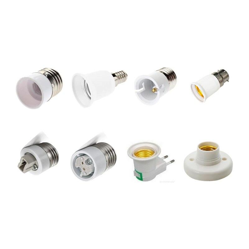 Lamp Holder Socket Converter E27 E14 G9 G4 B22 MR16 Base Mutual Conversion Fireproof Socket Adapter For Blub Lamp