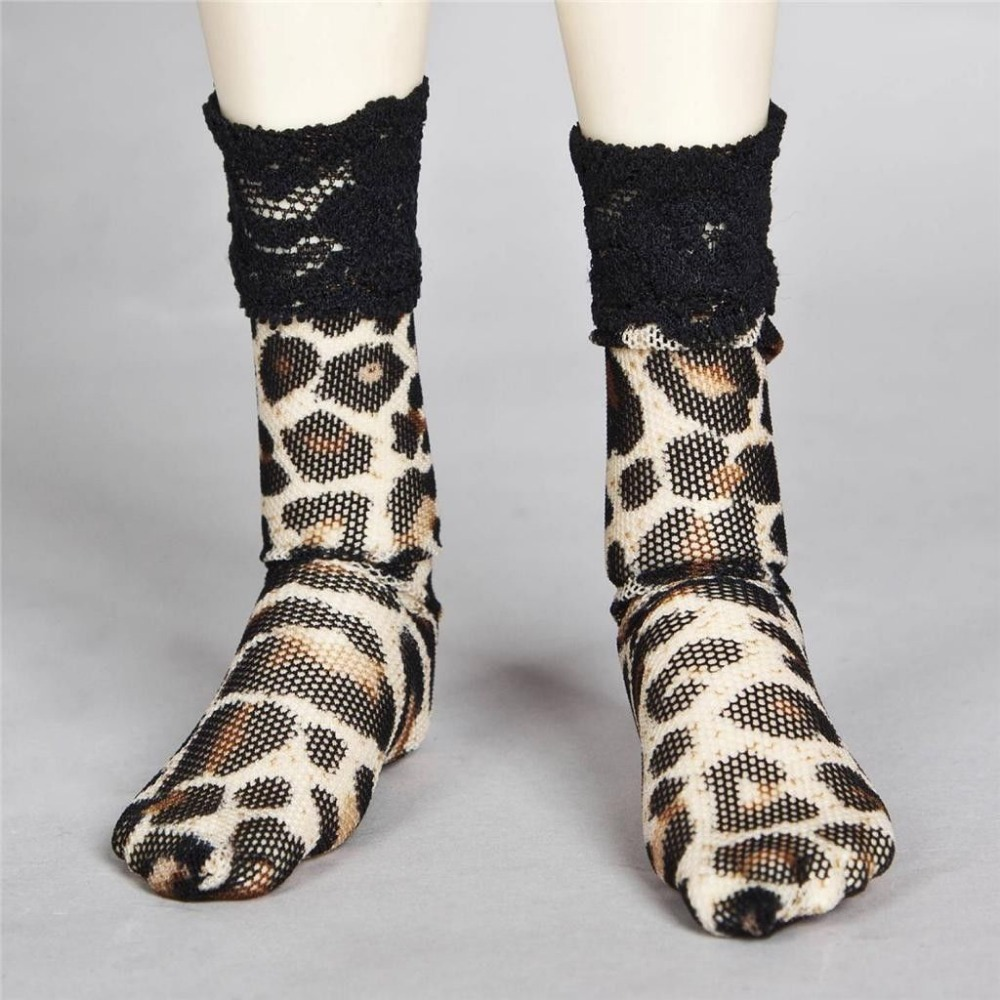 Stockings 1//4 MSD DZ DOD AOD BJD Dollfie PF 11# Striped Leopard Socks