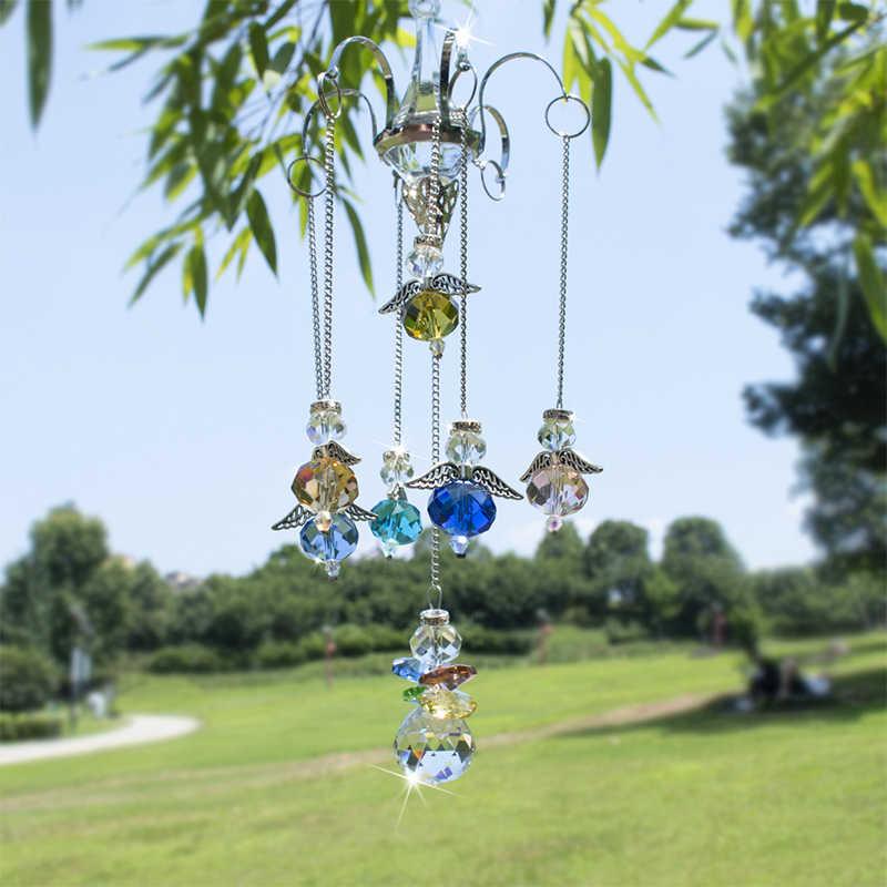 H & D Gantung Guardian Angel Crystal Prism Bola SunCatcher Pelangi Ornamen Gantungan dengan Hook Rumah Pernikahan Dekorasi, 16-Inch