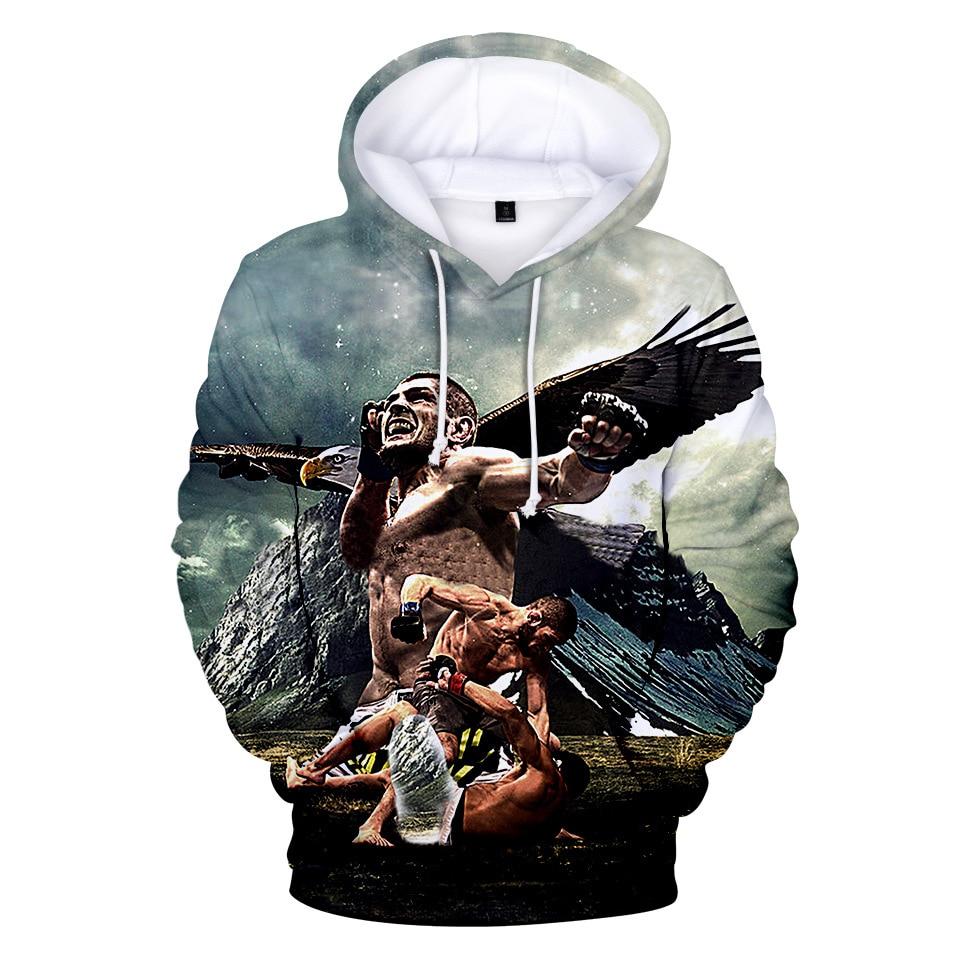 Aus Mode Streetwear 3D Beiläufige Hoodies khabib nurmagomedov Hoodie Sweatshirts Männer Frauen Pullover Jacke Mantel