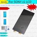 Para sony xperia z1 l39h c6902 c6903 c6906 lcd screen display toque digitador assembléia + tampa traseira adesivo + suporte adesivo + ferramentas