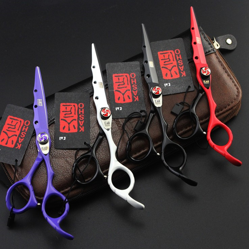 2017 New KASHO Profissional Hairdressing Scissors Hair Cutting Scissors Set Barber Shears High Quality Salon 6
