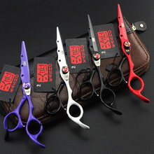 2017 New KASHO Profissional Hairdressing Scissors Hair Cutting Scissors Set Barber Shears High Quality Salon 6.0inch(China)