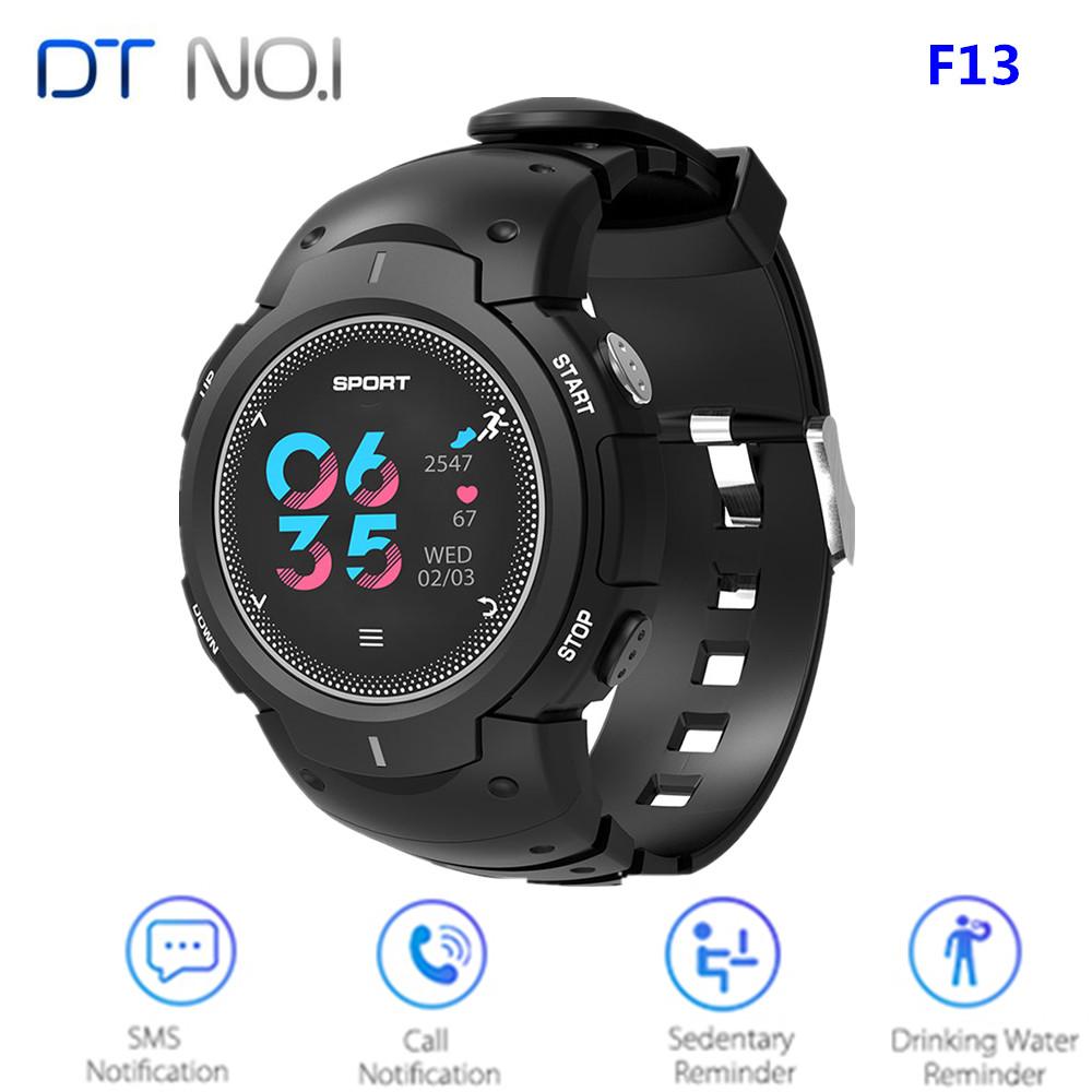 NO.1 F13 Smart Watch For Men Real-Time Heart Rate Monitor Smartwatch Remote Camera Sports Outdoor Wristband For Android / IOS image