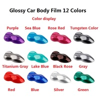 2pcs 50*150cm Glossy Car Body Film Beautiful Purple Red Blue Gray Scratches Cover PVC Interior Vinyl Wrap Styling Stickers