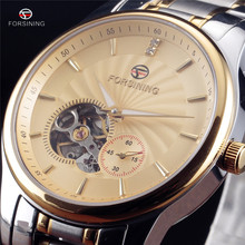 Fashion Luxury Brand FORSINING Mens Watch Tourbillon Hollow Automatic Mechanical Wristwatch For Men Gift Stainless Steel Watches
