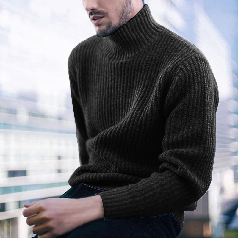 ZOGAA 2019 Winter Solid Color Long Sleeve Turtleneck Men's Sweater Causal Warm Standard Pullovers 3 Colors