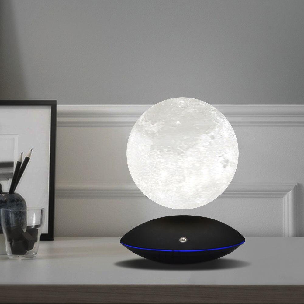 Magnétique Lévitation 13.5 CM 3D Lune Lampe 360 Rotation Nuit Lampe Tactile Flottant Lumière Romantique Maison Décoration pour Chambre Bureau