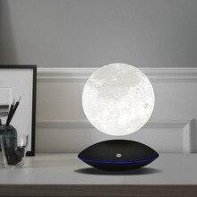 Magnética levitante 13,5 CM 3D Luna lámpara giratorio 360 de noche lámpara flotante toque romántico Luz Decoración para dormitorio Escritorio