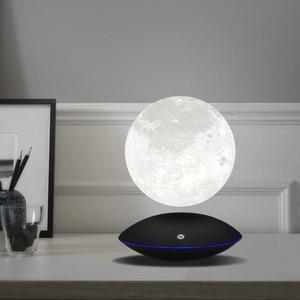Image 1 - Magnetic Levitating 13.5 ซม. 3D Moon 360 หมุน Night โคมไฟลอยสัมผัสแสงโรแมนติกตกแต่งบ้านสำหรับห้องนอน