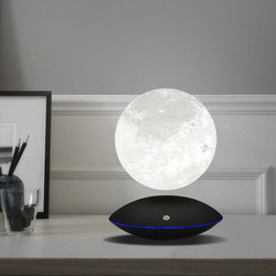 Magnetic Levitating 13.5CM 3D Moon Lamp 360 Rotating Night Light Floating Touch Romantic Gift Home Decoration for Bedroom Desk