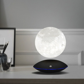 Night Light Magnetic Levitating 13 5CM 3D Moon Lamp 360 Rotating Floating Touch Romantic Gift Home