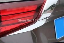2 шт/компл Задние световые полосы из АБС Хромированного Пластика