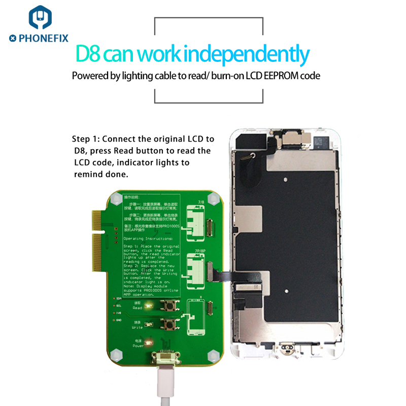 Jc Pro1000s Ambient Light Sensor Lcd Touch Screen Photosensitive Vibration Data Module For Iphone 8 8p X Xs Max Replace