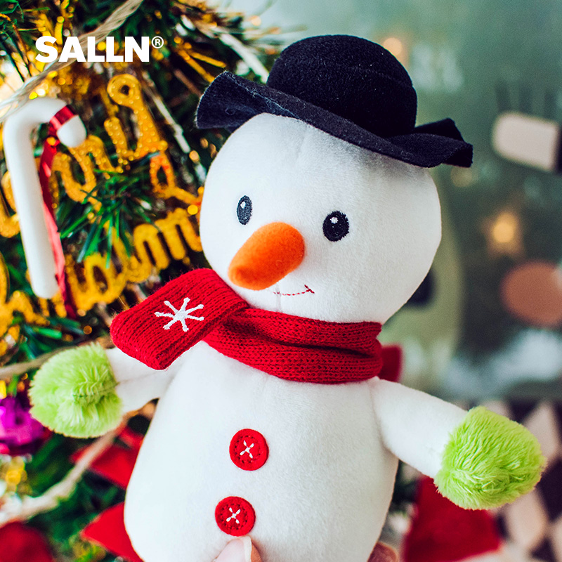 ~~ONE 1 PLUSH STANDING SNOWMAN WITH RED BIRD HOME DECOR ~ IMMEDIATE SHIPPING~~